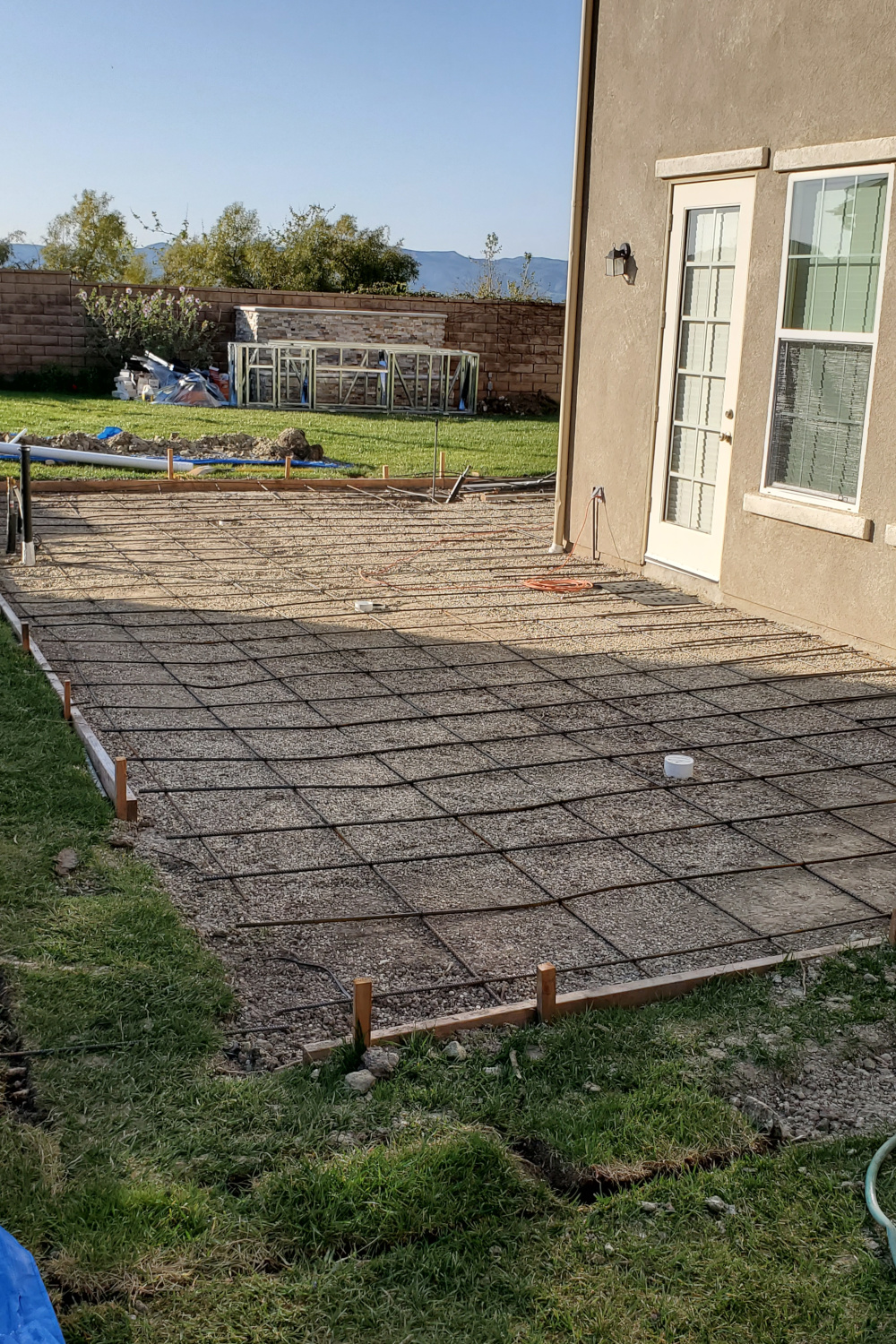 Concrete slab with rebar