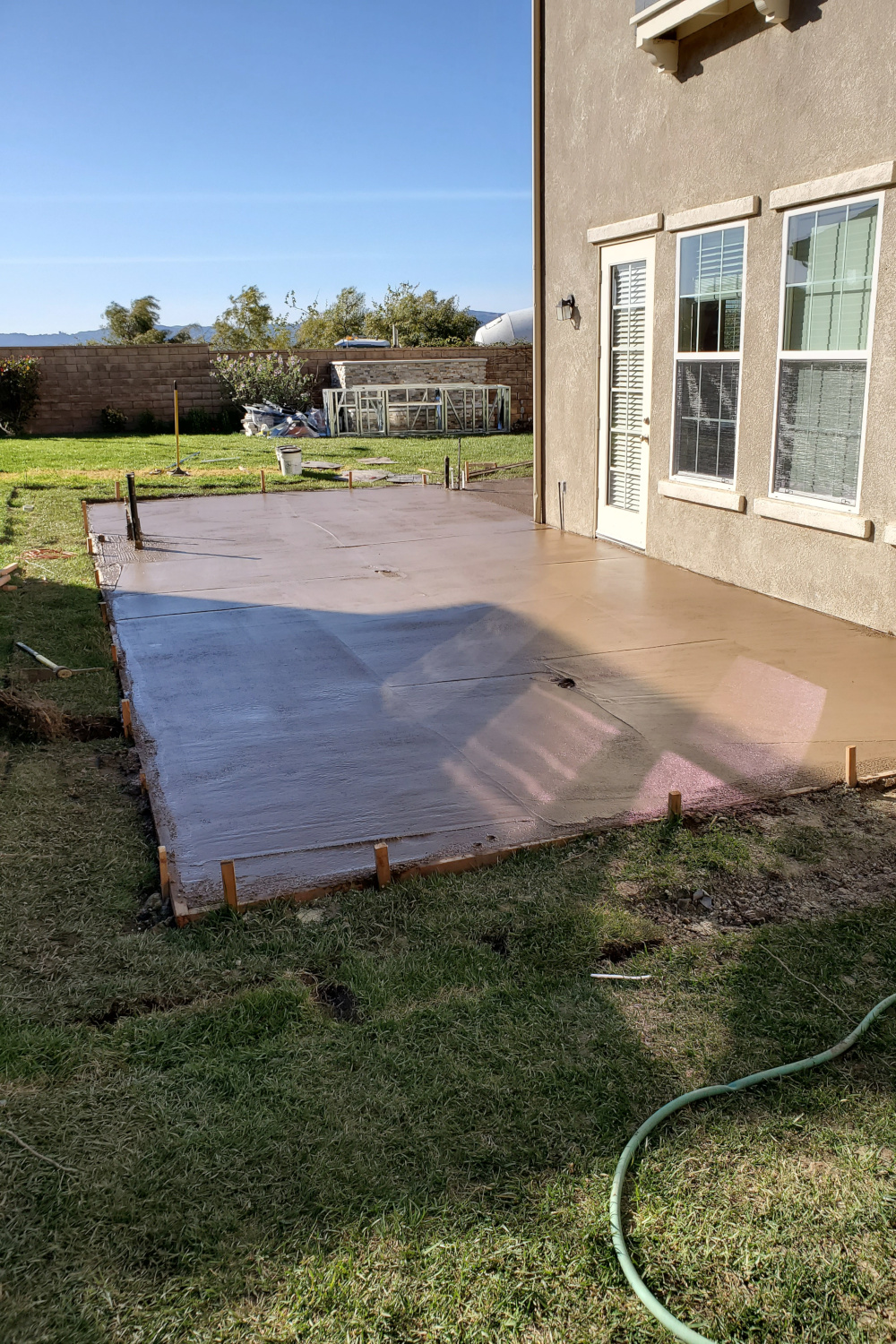 Concrete poured