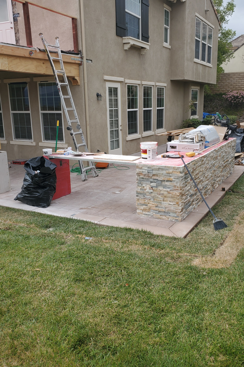 Flagstone for outdoor kitchen