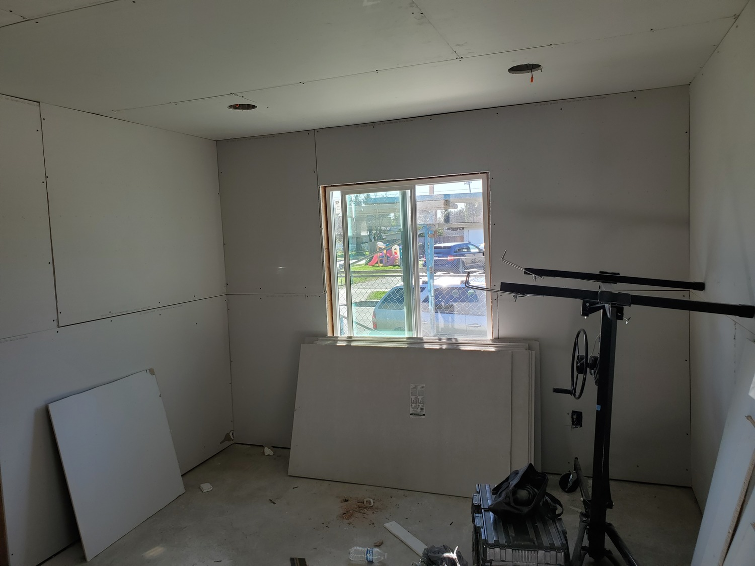 Drywall & electric