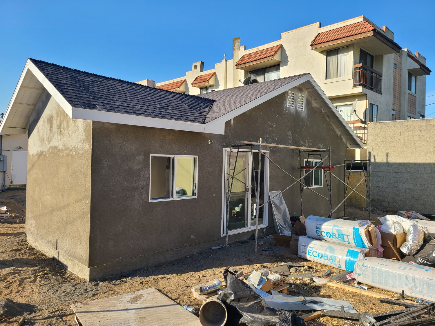 Glendale addition-Stucco in process