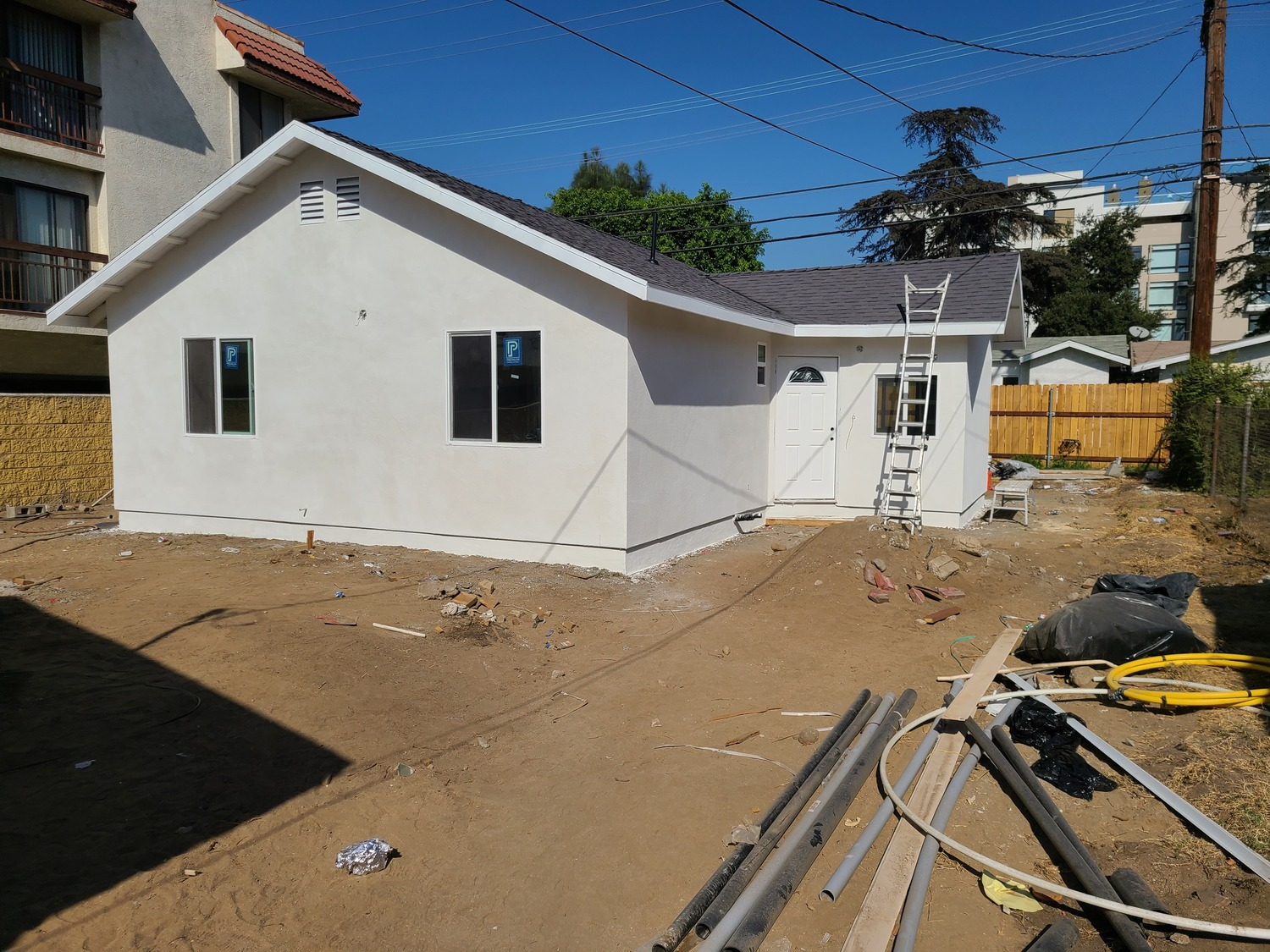 Stucco and roof
