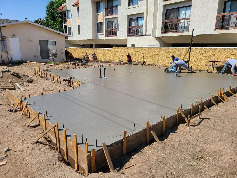 Glendale addition-Concrete pouring
