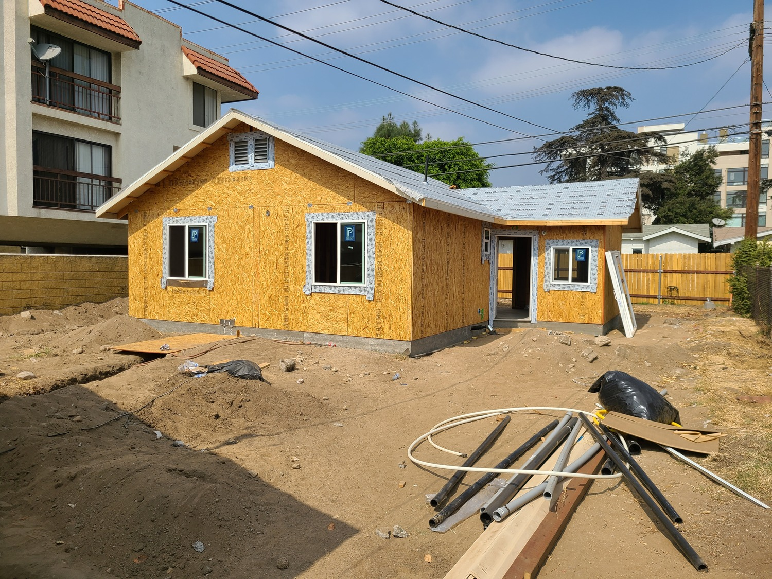 Glendale addition-Framing and windows